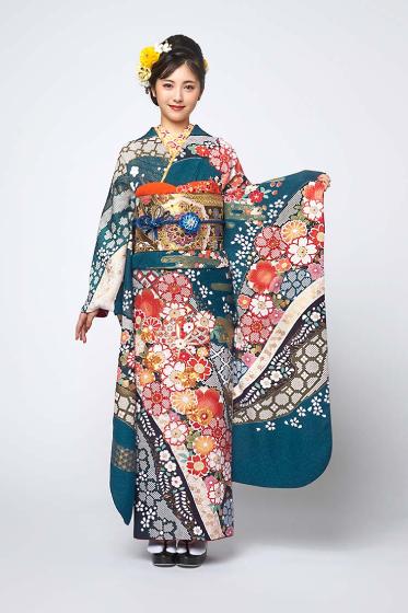 正絹 手絞り刺繍